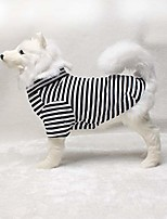 cheap -pet dog shirts striped dog t-shirts cotton made puppy clothes for small medium large dogs