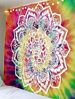cheap -Lotus Mandala Indian Tapestry Wall Mount Bohemian Beach Towel Thin Polyester Blanket Yoga Shawl Blanket
