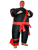 cheap -Ninja Cosplay Costume Inflatable Costume Funny Costume Adults' Men's Cosplay Halloween Halloween Festival / Holiday Fabric Black Men's Women's Easy Carnival Costumes