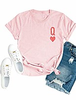 cheap -womens queen of hearts shirt cute graphic tees casual short sleeve crew neck tops & #40;pink, x-large& #41;