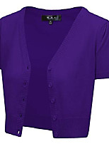 cheap -short sleeve cropped bolero cardigan sweater vintage inspired pinup,grape,large