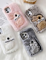 cheap -Case For APPLE  iPhone 6 7 8 6plus 7plus 8plus  XR XS XSMAX  X 11 11Pro 11ProMax SE Rhinestone Pattern Rabbit Back Cover Plush TPU