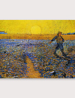cheap -IARTS Hand Painted sunset Oil Painting with Stretched Frame For Home Decoration With Stretched Frame