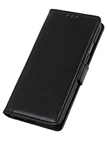 cheap -Case For Alcatel Alcatel 3 / Alcatel 3L / Alcatel 1C 2019 Card Holder / Flip Full Body Cases Solid Colored PU Leather