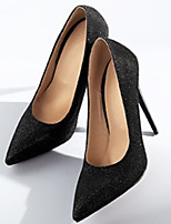 cheap -Women's Heels Stiletto Heel Pointed Toe Classic Daily Solid Colored Synthetics Black / Gold / Silver