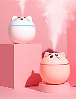 cheap -300ML Mini Cute Pet Air Humidifier Aroma Essential Oil Diffuser Portable With Colorful Night Light Two Spray For Home Car