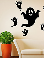 cheap -Halloween Ghost  Wall Stickers Decorative Wall Stickers, PVC Home Decoration Wall Decal Wall Decoration / Removable