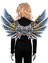cheap -Butterfly Wings Cloak Kid's Adults' Men's Cosplay Halloween Halloween Festival / Holiday Nonwoven Blue Men's Women's Easy Carnival Costumes