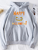 cheap -Women's Daily Pullover Hoodie Sweatshirt Pumpkin Halloween Hoodies Sweatshirts  Black Purple Red