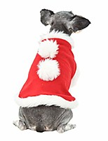 cheap -dog costumes, christmas costumes for small dogs, creative dog cape with faux fur pom pom, pet dog cat cloak ugly xmas puppy sweater fleece warm coat dog clothes