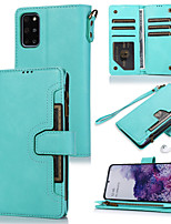 cheap -Case For Samsung Galaxy S20 S20 Plus S20 Ultra S10 S10 Plus S10E S10 5G S9 S9 Plus S8 S8 Plus S7 S7 Edge Card Holder Flip Magnetic Full Body Cases Solid Colored PU Leather