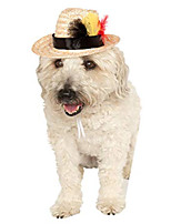 cheap -fedora with feather pet costume accessory, medium/large