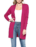 cheap -womens light weight open front long cardigan with pockets (large, magenta)