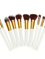 cheap -dragonpad 10 pcs makeup brush set kabuki powder foundation blusher cosmetic bamboo.