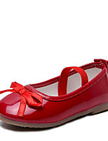 cheap -Girls' Flats Comfort PU Leatherette Loafers Little Kids(4-7ys) Walking Shoes Bowknot Wine / Black / Pink Spring / Summer