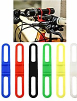 "cheap -silicone bicycle band 6 pcs bike light holder strap 5.7"" flashlight band phone strap tie ribbon mount holder for light handlebar mount (6 pcs)"
