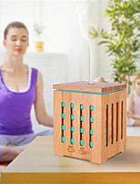 cheap -Square Perfume Ultrasonic Real Bamboo Wooden 200ml Nebulizing Aromatherapy Humidifier 7 Color Changing