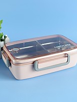 cheap -Bamboo Fiber Stainless Steel Liner Sealed Box Plastic Insulated Lunch Box Fresh-keeping Box