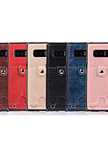 cheap -Case For Samsung Galaxy Galaxy Note8 Note9 Note10 Note10plus Wallet Card Holder Back Cover Solid Colored PU Leather TPU