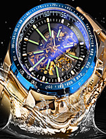 cheap -FORSINING Men's Mechanical Watch Automatic self-winding Vintage Style Stylish Casual Hollow Engraving Analog Black+Gloden White+Sky Blue Gold / Two Years / Stainless Steel / Stainless Steel