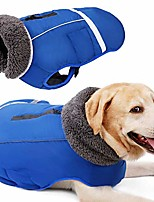 cheap -dog winter coat thickness warm fleece lined jacket outdoor waterproof reflective vest for winter