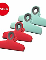 cheap -4pack clips bag clips,no more sharp edges heavy duty colorful food bag clips, great for air tight seal grip on coffee & food bags, kitchen home office usage
