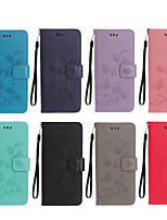 cheap -Case For Motorola MOTO G5S G5S Plus G6 G6 Plus G7 G7 Plus Pattern Magnetic Full Body Cases Solid Colored PU Leather
