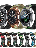 cheap -Sport Silicone Watch Band for Samsung Galaxy Watch 3 45mm 41mm / Galaxy Watch 46mm 42mm / Active 2 40mm 44mm / S3 Classic Frontier / Gear Sport / S2 Classic Replaceable Bracelet Wrist Strap Wristband