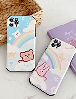 cheap -Case For Apple iPhone 7 8 plus SE 2020 X XS XR XS max  11 11 Pro 11 Pro Max Pattern Back Cover  Cartoon TPU Embossed cute LOVELY