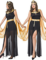 cheap -Cleopatra Dress Cosplay Costume Outfits Adults' Women's Cosplay Halloween Halloween Festival / Holiday Tulle Polyester Black Women's Easy Carnival Costumes / Belt / Belt