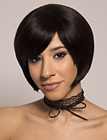 cheap -Remy Human Hair Wig Short Silky Straight Pixie Cut Brown Easy to Carry Natural New Capless Brazilian Hair Burmese Hair Women's Natural Black #1B 12 inch