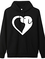 cheap -Women's Hoodie Cartoon Hoodie Dog Heart Sport Athleisure Pullover Long Sleeve Warm Soft Oversized Comfortable Everyday Use Exercising General Use