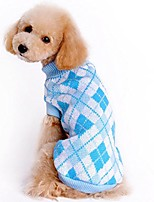 cheap -puppy sweater, pet classic warm clothing knitted soft sweatshirt clothes & #40;sky blue, xs& #41;