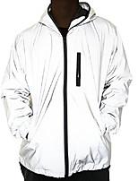 cheap -reflective coat hooded windbreaker fashion runing pocket jacket (s)