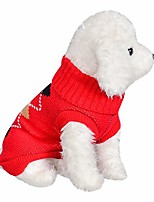 cheap -pet dog cat sweater winter warm turtleneck christmas knitting sweater costume apparel shirt for small dogs