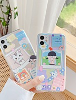 cheap -Case For APPLE  iPhone 7 8 7plus 8plus  XR XS XSMAX  X 11 11Pro 11ProMax SE Transparent Pattern Back Cover Word Phrase Cartoon TPU