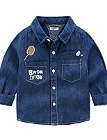 cheap -Kids Boys' Basic Solid Colored Long Sleeve Shirt Royal Blue