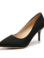 cheap -Women's Heels Stiletto Heel Pointed Toe Casual Basic Daily Solid Colored PU Walking Shoes Black / Red / Black / Yellow