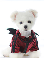 cheap -Dog Coat Angel & Devil Casual / Daily Casual / Sporty Casual / Daily Outdoor Winter Dog Clothes Warm Red Gray Costume Plush XS S M L XL
