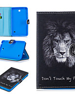 cheap -Case For Samsung Galaxy Tab 4 T230 T231 Tab E T375 Tab A T280 Tab 3 Lite T110 T111 Card Holder Shockproof Pattern Full Body Cases PU Leather TPU  magnetic buckle lion