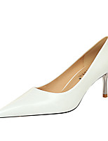cheap -Women's Heels Stiletto Heel Pointed Toe Sexy Party & Evening Solid Colored Patent Leather Nude / White / Black