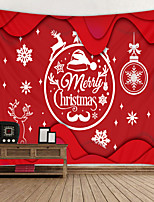 cheap -Christmas Weihnachten Santa Claus Wall Tapestry Art Decor Blanket Curtain Picnic Tablecloth Hanging Home Bedroom Living Room Dorm Decoration Snowflake Snow Elk Polyester
