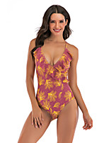 cheap -Women's One Piece Swimsuit Swimwear Breathable Quick Dry Sleeveless Swimming Surfing Water Sports Solid Colored Summer / Stretchy