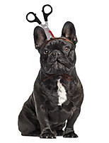 cheap -Dog Cat Halloween Costumes Costume Bandanas & Hats Headband Knife Unique Design Cool Christmas Party Dog Clothes Breathable Silver Costume Fabric S M