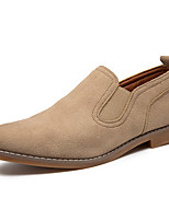 cheap -Men's Spring / Fall Business / Classic / Casual Daily Office & Career Loafers & Slip-Ons Suede Breathable Non-slipping Wear Proof Black / Khaki / Gray