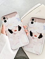 cheap -Case For Apple iPhone 7 7Plus iPhone 8 8Plus iPhone X iPhone XS XR XS max iPhone 11 11 Pro 11 Pro Max Pattern Back Cover Sexy Lady TPU