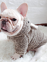 cheap -Dog Coat Character Casual / Daily Cute Casual / Daily Winter Dog Clothes Warm Blue Gray Coffee Costume Plush S M L XL XXL