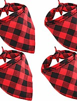 cheap -4 pieces christmas dog bandana reversible triangle bibs scarf dog kerchief accessories for pets favors (s size)
