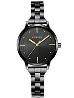 cheap -CURREN Women's Quartz Watches Quartz Formal Style Modern Style Casual Water Resistant / Waterproof Stainless Steel Black / Silver / Gold Analog - Rose Gold Golden+White Black One Year Battery Life