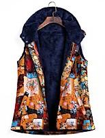 cheap -Women's Fall & Winter Vest Regular Geometric Daily Vintage Cotton Blue Purple Yellow L XL XXL
